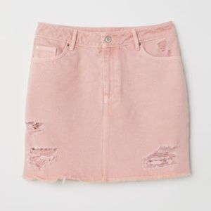 NWT - H&M Pink Denim Mini Skirt